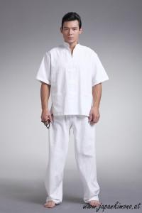 Zen oberteil kurzärmlig (weiß)