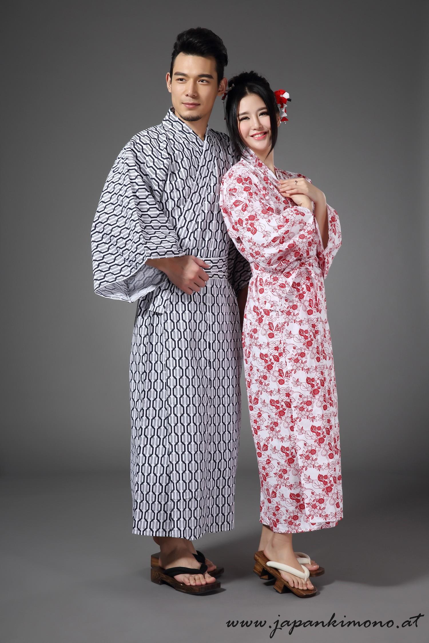 herren kimono lang baumwolle